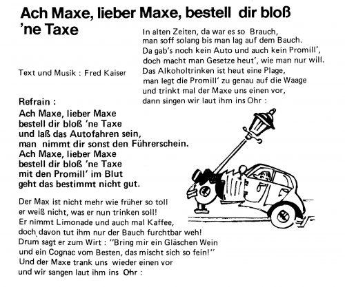 ach maxe bestell dir bloß ne taxe